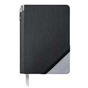 Cross AC273-5MB Medium A5 Blank Paper Jotzone Notepad | Black and Grey | Cross Pen Included Thumbnail 1