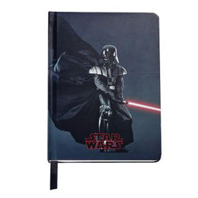 Sheaffer AC285-6M Medium A5 Lined and Perforated Paper Star Wars Notepad | Darth Vader | Black