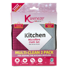 Kleeneze® KL071156EU Microfibre Kitchen Cloths for Cleaning