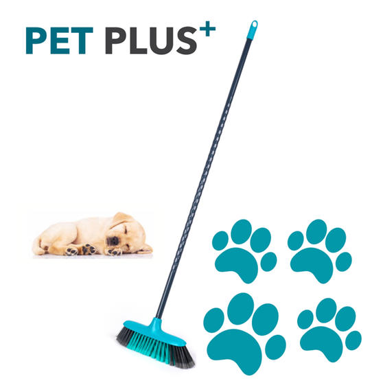 Beldray® LA075031EU7 Pet Plus Cross Action Broom | Made from Recycled Plastic |  Main Image 2
