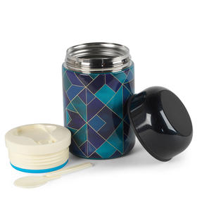Cambridge CM07146 Mosaic Cloud Food Flask | 350 ml | Reusable | Leak-Proof Lid Thumbnail 3