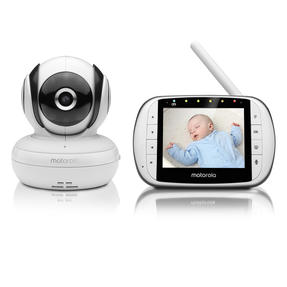 Motorola MBP36SC Baby Monitor with 3.5 Inch Colour LCD Display Parent Unit| Room Temperature Monitoring Thumbnail 1