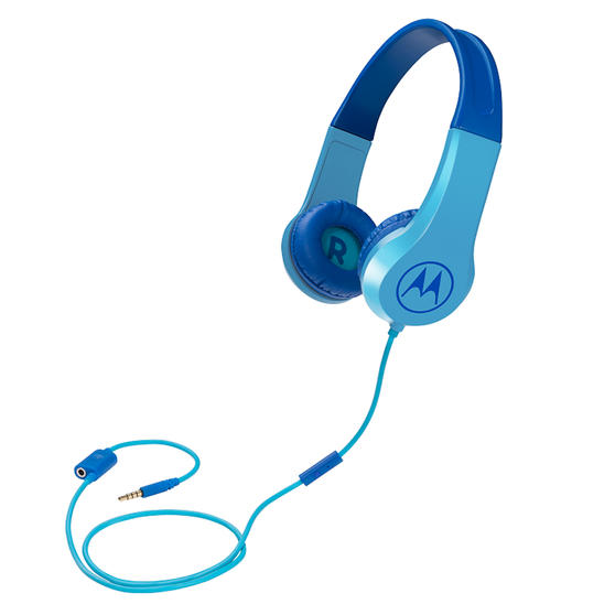 Motorola SQUADS200BL Squads 200 Kids Wired Headphones with Anti-Allergic Cushion Pads | Blue