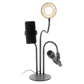 Activate EE5782BLKSTKEU7 3 in 1 Streaming Stand with Light Ring | Includes Phone and Microphone Holder | Perfect for Recording Videos or Taking Selfies