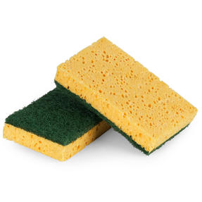Beldray® LA076298EU7 Eco Everyday Sponge Scourer | 2 Pack | Perfect for Scrubbing Tough Stains Thumbnail 1
