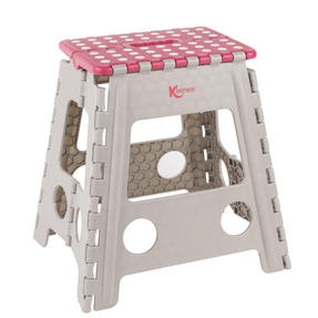 Kleeneze® Large Step Stool with Carry Handle| Lightweight | Folds Easily for Compact Storage | Ideal for Hard to Reach Places