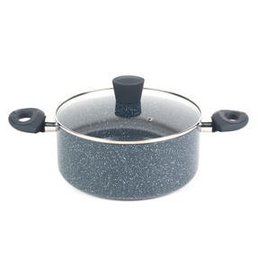Russell Hobbs Blue Marble 24 cm Non-Stick Stockpot, Pressed Aluminium