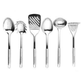 Russell Hobbs Stainless Steel Kitchen Utensil Set with Stand, 6 Piece Thumbnail 3