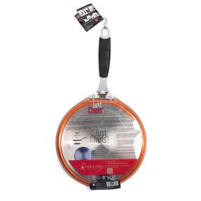 Bergner BG-7917-CP Just for Chef?s Crepe and Pancake Pan, 24 cm   Quantanium Multi-Coat Non-Stick Coating   Copper   Silicone Handle   Forged Aluminium Thumbnail 2