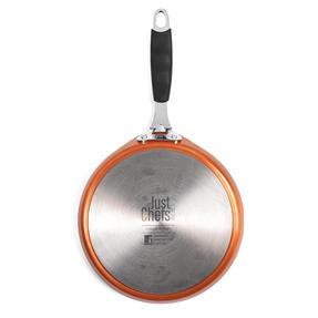 Bergner BG-7917-CP Just for Chef?s Crepe and Pancake Pan, 24 cm   Quantanium Multi-Coat Non-Stick Coating   Copper   Silicone Handle   Forged Aluminium Thumbnail 3