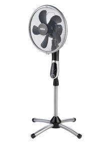 Beldray EH1331 Premium 360 degree Oscillating Pedestal Fan with Remote Control, 3 Speed Settings, 7.5 Hour Timer Function, Silver/ Black  Thumbnail 4