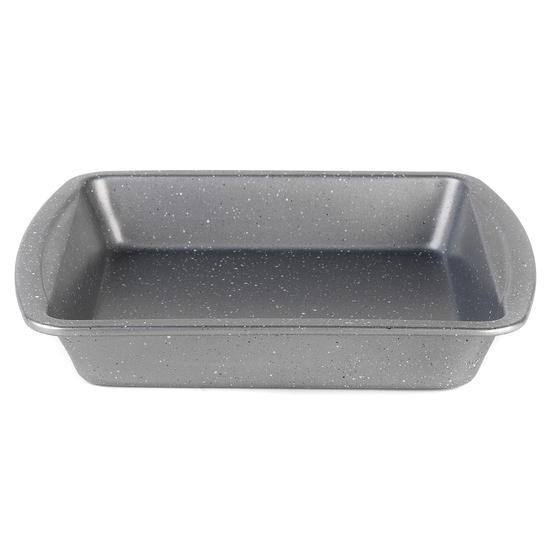 Progress® BW08261EU Non-Stick Metallic Marble Square Pan | 26 cm | Carbon Steel
