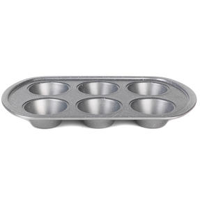 Progress® BW08284EU Non-Stick Metallic Marble 6 Cup Muffin Tray | Carbon Steel | Dishwasher Safe Thumbnail 2