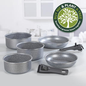 Progress® BW09640EU 7 Piece Non-Stick Clip and Cook Pan Set | Including 20/24 cm Fry Pans and 16/18/20 cm Saucepans with Two Detachable Handle Thumbnail 2