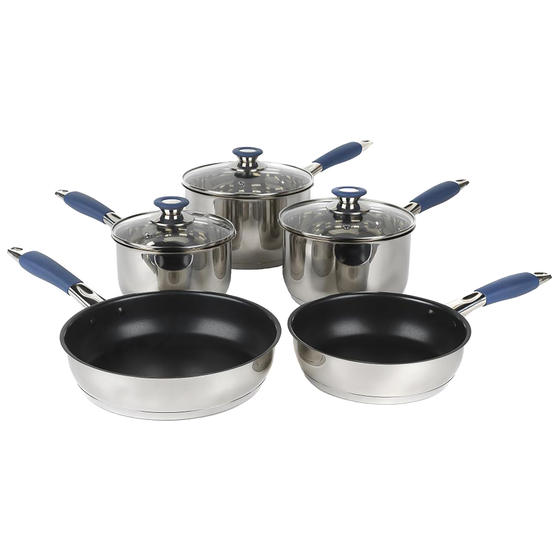 Russell Hobbs® RH01179EU 5 Piece Stainless Steel Pan Set | Blue | Including 16,  Preview