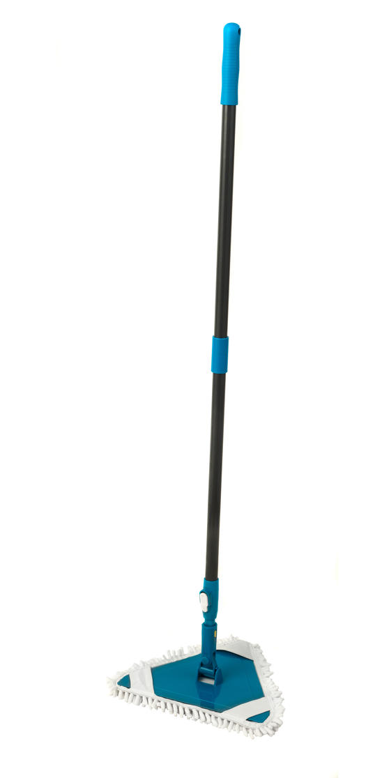 Beldray® LA026378PK10UFEU7 Anti-Bac Triangle Extendable Bending Mop | Treated with Anti-Bac Protection | Extendable Handle | Machine Washable