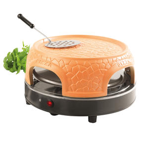Giles & Posner® EK4025G Family Sharing Pizza Maker with Terracotta Dome | 800 W | Serve up to 4 Mini Pizzas at Once | Power Ready and Indicator Lights Thumbnail 1