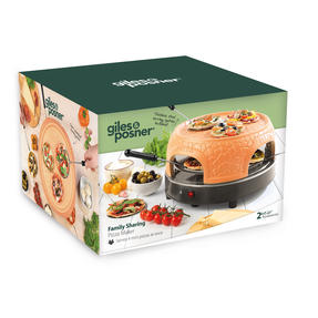 Giles & Posner® EK4025G Family Sharing Pizza Maker with Terracotta Dome | 800 W | Serve up to 4 Mini Pizzas at Once | Power Ready and Indicator Lights Thumbnail 4