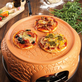Giles & Posner® EK4025G Family Sharing Pizza Maker with Terracotta Dome | 800 W | Serve up to 4 Mini Pizzas at Once | Power Ready and Indicator Lights Thumbnail 8