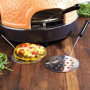 Giles & Posner® EK4025G Family Sharing Pizza Maker with Terracotta Dome | 800 W | Serve up to 4 Mini Pizzas at Once | Power Ready and Indicator Lights Thumbnail 10