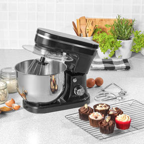 Salter® EK4245BLACK Stand Mixer with 6 Speed Settings and 5 Litre Capacity, 1200 W, Stainless Steel, Black Thumbnail 5