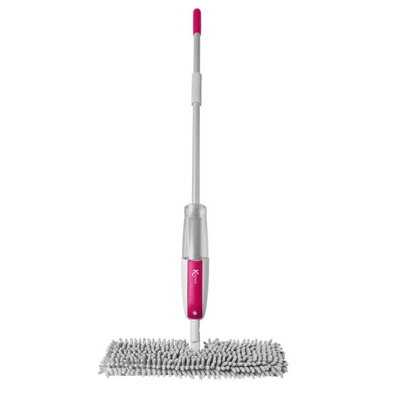 Kleeneze® KL076632UFEU7 AntiBac Double Sided Spray Mop | Treated with Anti-Bac Protection | 2 in 1 Easy-Flip Head | 550 ml