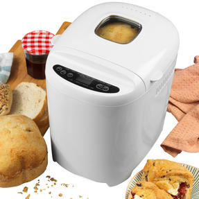 Progress® EK4219PVDEEU7 Digital Bread Maker with European Plug | 550 W | Rapid Bake | 11 Baking Functions | LCD Display | Cool-Touch Housing | White