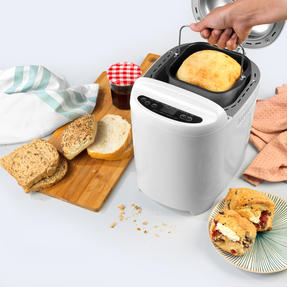 Progress® EK4219PVDEEU7 Digital Bread Maker with European Plug | 550 W | Rapid Bake | 11 Baking Functions | LCD Display | Cool-Touch Housing | White Thumbnail 2