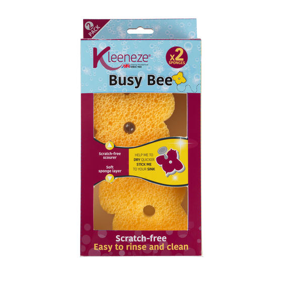 Kleeneze® KL072832EU7 Busy Bee Double Sided Sponge, Pack of 2