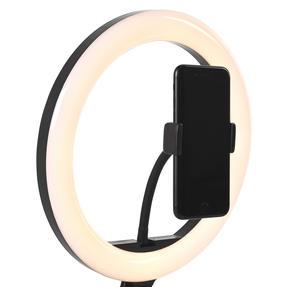 Intempo® EE5977BLKSTKEU7 Sync Desktop Selfie Light Ring Stand with Phone Holder   26 cm   3 Light Modes   USB Powered Thumbnail 5