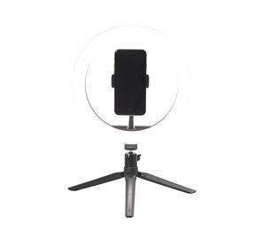 Intempo® EE5977BLKSTKEU7 Sync Desktop Selfie Light Ring Stand with Phone Holder   26 cm   3 Light Modes   USB Powered Thumbnail 7