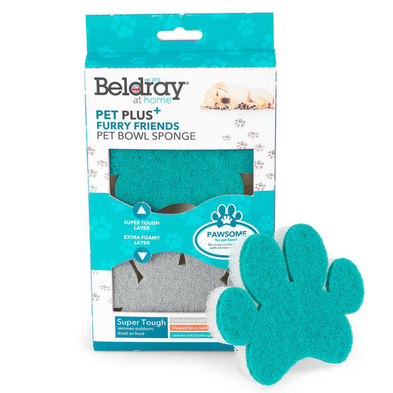 Beldray® LA075659EU7 Pet Plus Pet Bowl Sponge | Super Tough | Double-Sided | Ergonomic Shape | Pack of 2