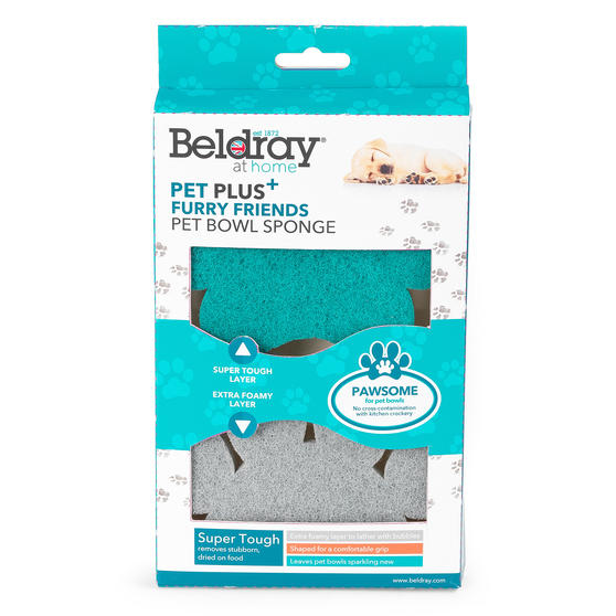 Beldray® LA075659EU7 Pet Plus Pet Bowl Sponge | Super Tough | Double-Sided | Erg Thumbnail 6
