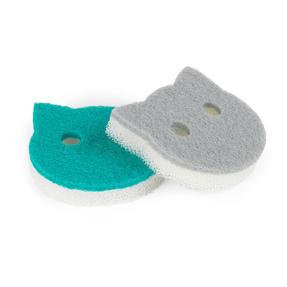 Beldray® LA075710EU7 Pet Plus Cat Pet Bowl Sponges | Super Tough | Double-Sided | Ergonomic Shape | Pack of 2 Thumbnail 1