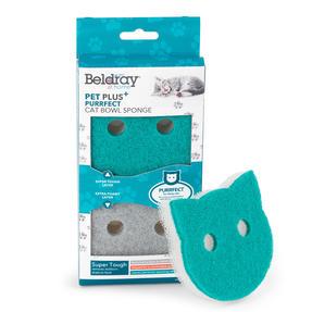 Beldray® LA075710EU7 Pet Plus Cat Pet Bowl Sponges | Super Tough | Double-Sided | Ergonomic Shape | Pack of 2 Thumbnail 2