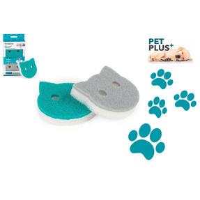 Beldray® LA075710EU7 Pet Plus Cat Pet Bowl Sponges | Super Tough | Double-Sided | Ergonomic Shape | Pack of 2 Thumbnail 3