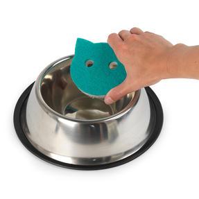 Beldray® LA075710EU7 Pet Plus Cat Pet Bowl Sponges | Super Tough | Double-Sided | Ergonomic Shape | Pack of 2 Thumbnail 4