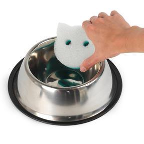 Beldray® LA075710EU7 Pet Plus Cat Pet Bowl Sponges | Super Tough | Double-Sided | Ergonomic Shape | Pack of 2 Thumbnail 5