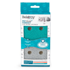 Beldray® LA075710EU7 Pet Plus Cat Pet Bowl Sponges | Super Tough | Double-Sided | Ergonomic Shape | Pack of 2 Thumbnail 7