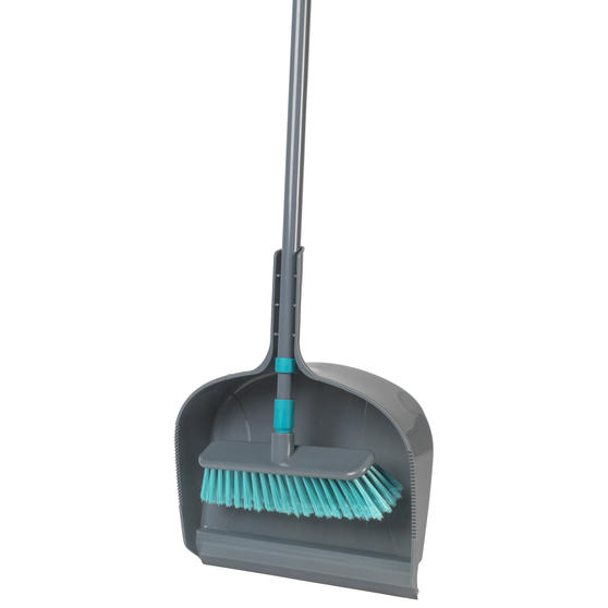 Beldray® Dustpan and Broom Set | Easily Adjustable | Ideal for Most Hard Floors | Grey and Turquoise Main Image 8