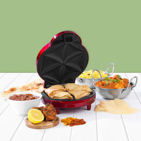 Giles & Posner® EK3812G Samosa Maker | Non-Stick Coated Cooking Plates | 2 Dripping Trays Included | 1000 W Thumbnail 3
