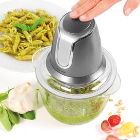 Salter EK3264GUNMETAL Cosmos Electric Glass Food Chopper | 500 W| 1.2 L | Gun Metal | Ideal For Vegetables, Fruits And Nuts Thumbnail 2