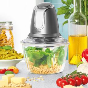 Salter EK3264GUNMETAL Cosmos Electric Glass Food Chopper | 500 W| 1.2 L | Gun Metal | Ideal For Vegetables, Fruits And Nuts Thumbnail 4