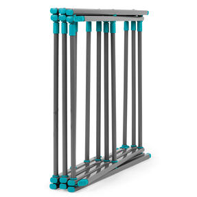 Beldray® LA077615EU7 Three Tier Expandable Clothes Airer | 7 metres of drying space | Lightweight | Compact | Folds Away for Convenient Storage | Turquoise and Grey Thumbnail 2
