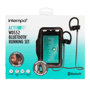 Intempo® EE5207BLKGRYSTKEU7 Active WDS Bluetooth Running Set | Includes Arm Band to Hold Phone | 10 m Wireless Range | Ideal For Running and the Gym | Black and Grey Thumbnail 8