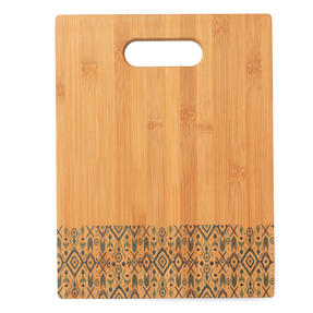 George Wilkinson® BW09609EU Bamboo Chopping Board with Nordic Decal Design | 32.7 x 25 cm | FSC Certified Thumbnail 1