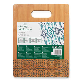 George Wilkinson® BW09609EU Bamboo Chopping Board with Nordic Decal Design | 32.7 x 25 cm | FSC Certified Thumbnail 4