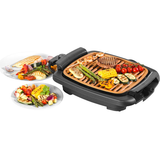 Salter® EK4218CP Copper Non-Stick Smokeless Electric Grill, 1200W
