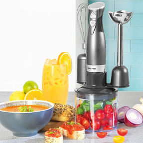 Salter® EK2827GUNMETAL Cosmos 3 in 1 Blender Set | Blend, Whisk & Chop | 500 ml Chopping Bowl | 350 W Thumbnail 2