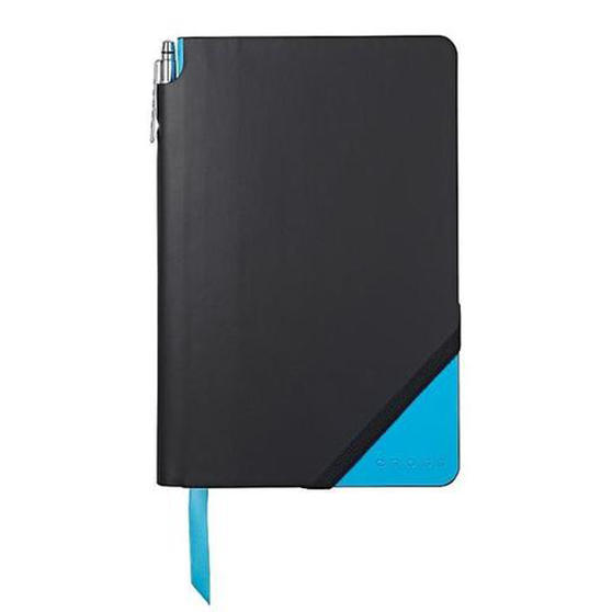 Cross AC273-3MB Medium A5 Blank Paper Jotzone Notepad | Black and Blue | Cross Pen Included